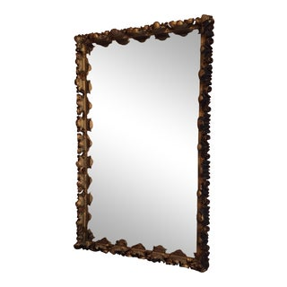 Large Baroque Style Carved Wood Mirror