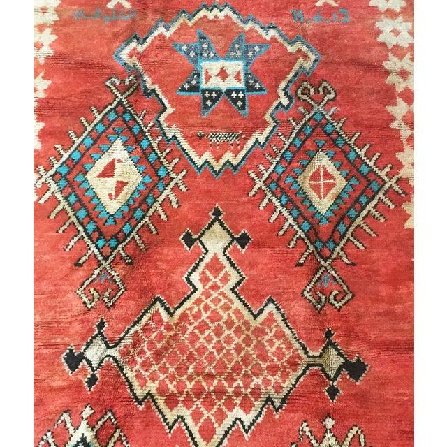 Vintage Vibrant-Color Moroccan Rug - 4′6″ × 8′8″ - Image 4 of 4