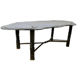 Slate Coffee Table From the French Riviera, Circa 1940 For Sale