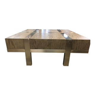Industrial Leigh Metal Square Coffee Table For Sale