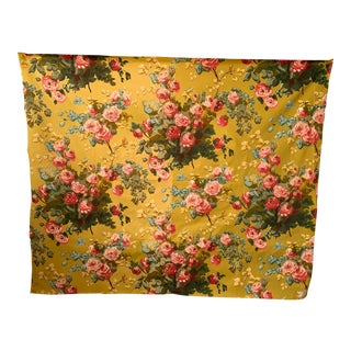 Antique French Silk And Cotton Fabric For Sale
