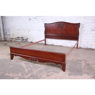 Vintage Carved Mahogany Full Size Bed Frame Preview