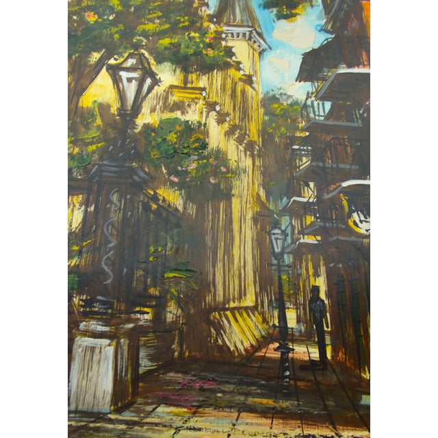 McCaffery Signed Cityscape New Orleans Painting - Image 4 of 8