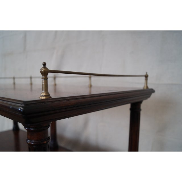 Quality Burl Wood 3 Tier Regency Style Server Cart AGE/COUNTRY OF ORIGIN: Approx 25 years, Unknown DETAILS/DESCRIPTION:...