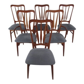 Mid-Century Modern Teak Dining Chairs After Folke Ohlsson For Sale