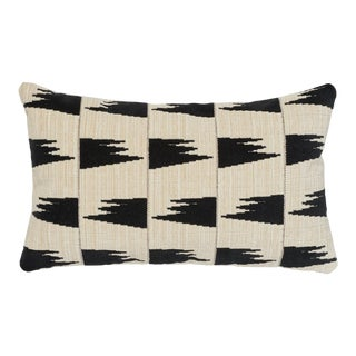 Contemporary Schumacher X David Kaihoi Tutsi Pillow in Ivory - 20ʺW × 12ʺH For Sale