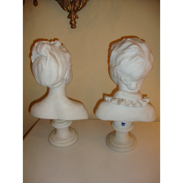 Brother and Sister Parian Busts- A Pair - Image 6 of 8