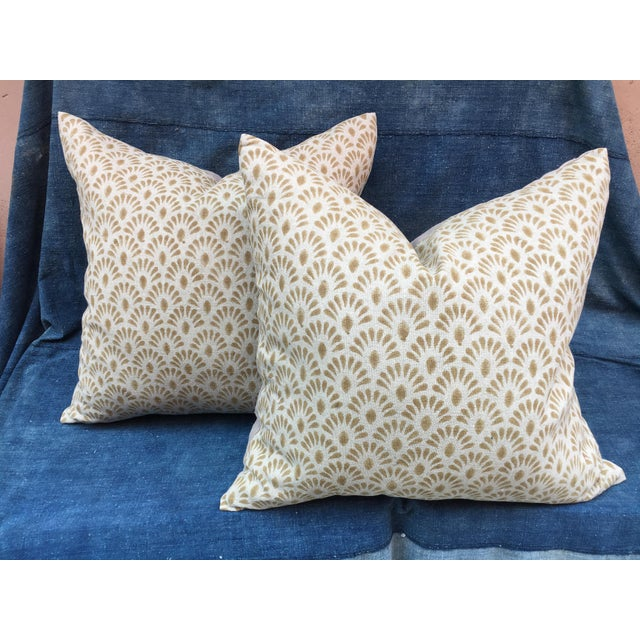 2020s Hand Blocked Indian Linen Pillows For Sale - Image 5 of 5