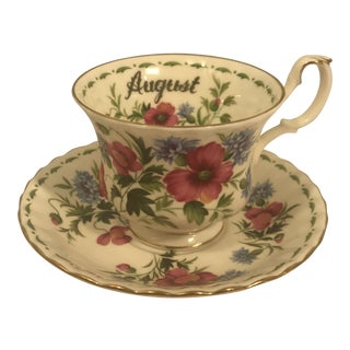 Prince Albert 'August' Tea Cup With Saucer - 2 Pieces For Sale