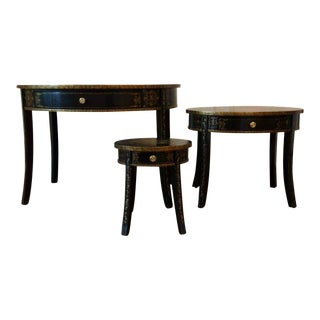 Traditional Maitland Smith Nesting Tables - Set of 3 For Sale