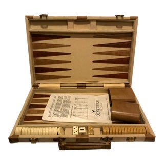1960s Vintage Mid-Century Modern Backgammon Game For Sale