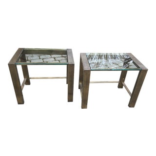 Mid Century Bronze Side Tables – a Pair For Sale
