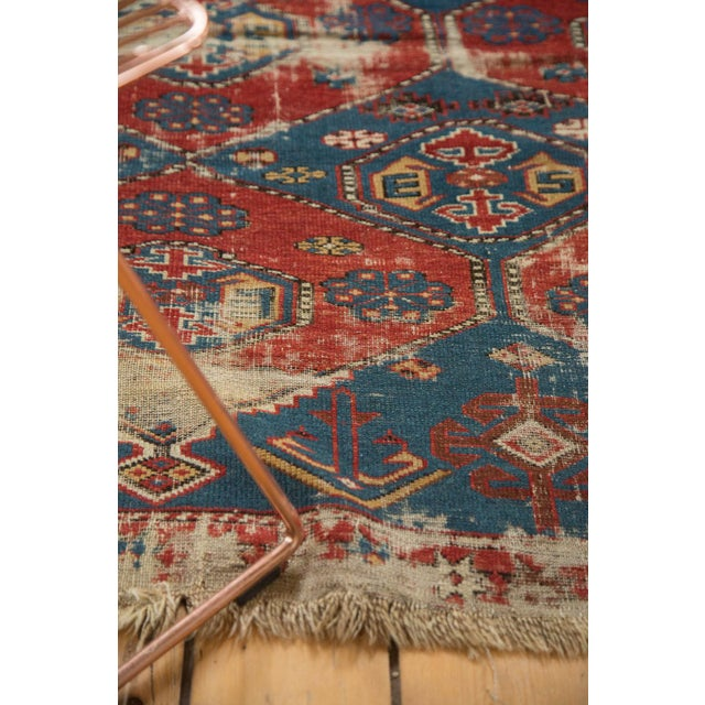 "Textile Antique Shirvan Rug - 4'4"" x 7'8"" For Sale - Image 7 of 11"