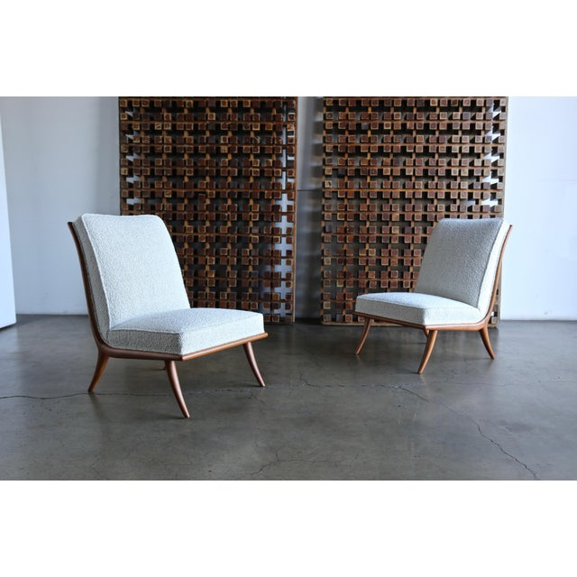 t.h. Robsjohn-Gibbings Slipper Chairs for Widdicomb Circa 1955 For Sale In Los Angeles - Image 6 of 12