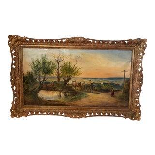 Antique Landscape Oil Painting For Sale