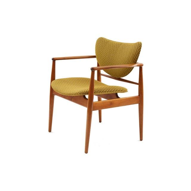Mid-Century Modern Pair of Finn Juhl 48 Armchairs For Sale - Image 3 of 7