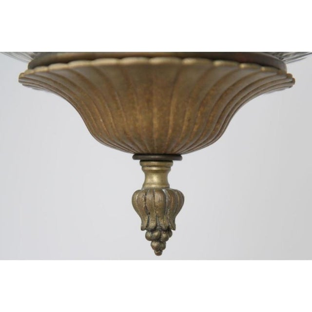 Louis XV Gilt Bronze & Domed Glass Chandelier For Sale - Image 11 of 11