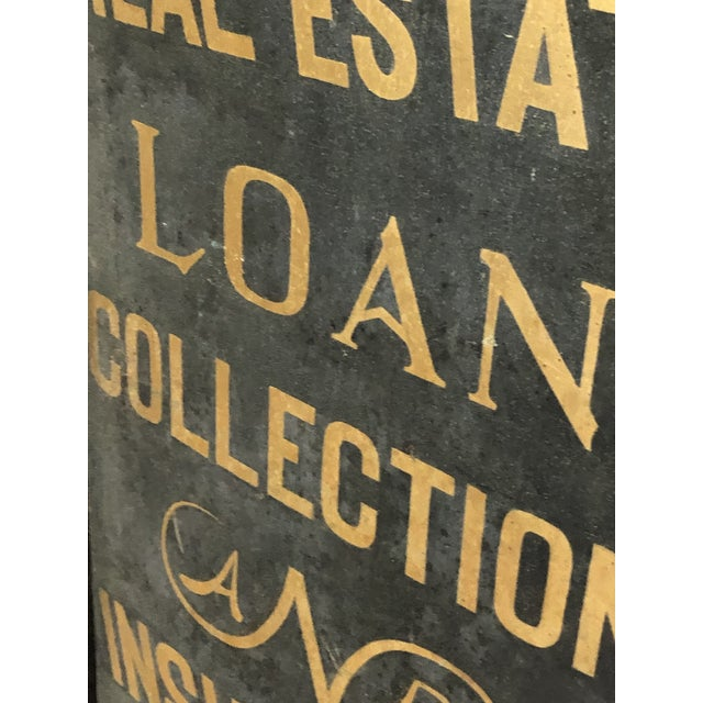 1900's Hand Painted Real Estate Sign For Sale - Image 4 of 5