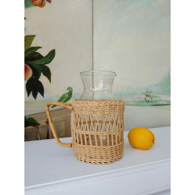Serena & Lily Wicker Carafe Pitcher For Sale - Image 4 of 6