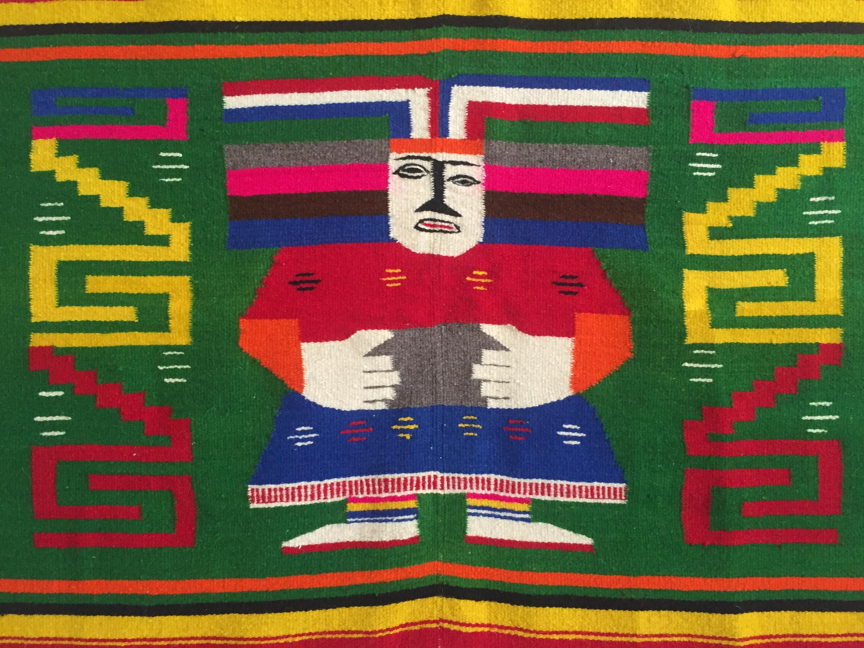 Vintage 1960 S Hand Woven Mayan Zapotec Mexico Wool Blanket Chairish