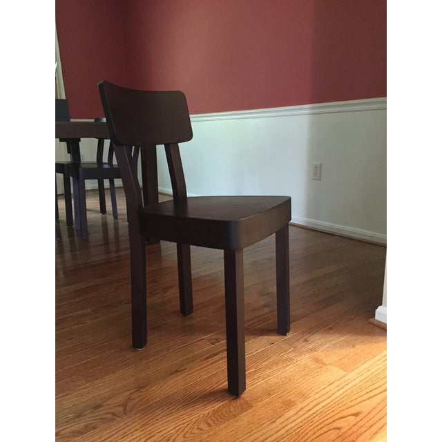Italian Gervasoni Otto Walnut, Bamboo Table & 8 Chairs For Sale - Image 3 of 4