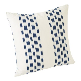 Schumacher Double-Sided Pillow in Izmir Stripe Woven Print For Sale