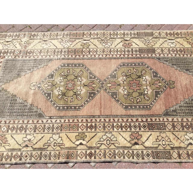 Rustic Vintage Hand Knotted Turkish Rug For Sale - Image 3 of 9
