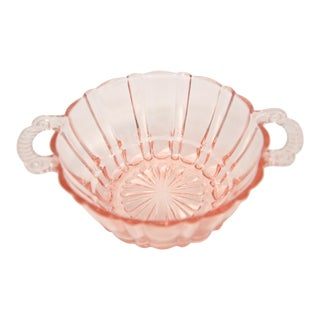 Shell Pink Handled Bowl For Sale