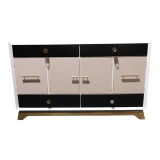 Custom Painted Contemporary Credenza For Sale