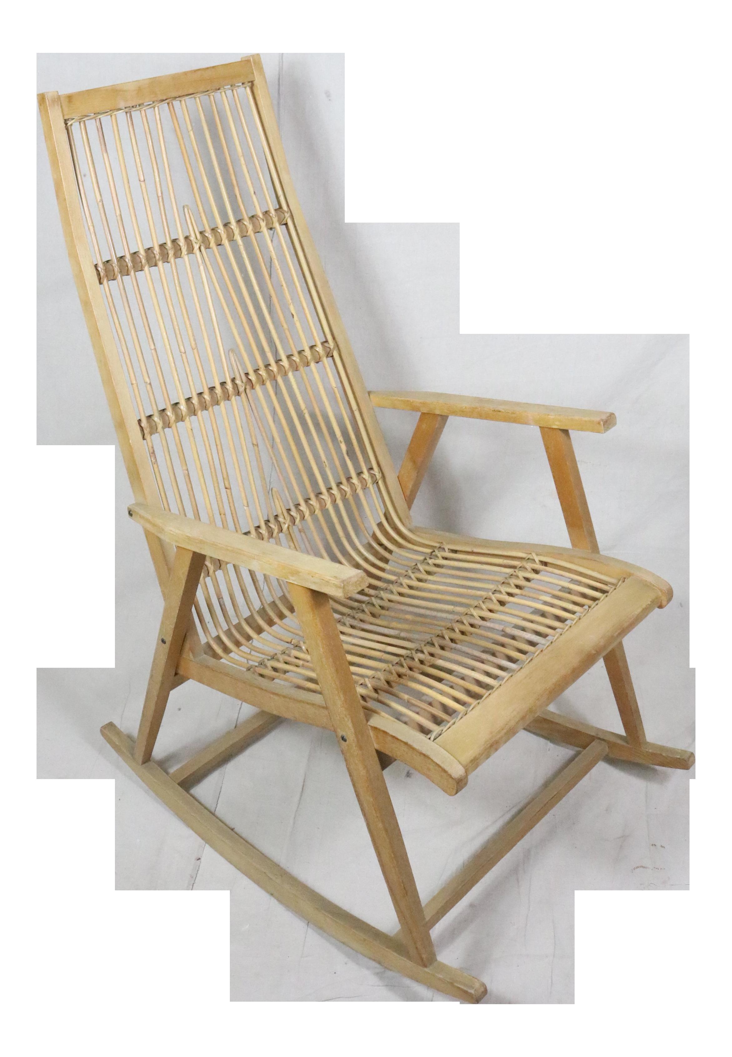 Vintage Mid Century Scandinavian Rattan Rocking Chair For Sale  sc 1 st  Chairish & Vintage u0026 Used Rocking Chairs for Sale | Chairish