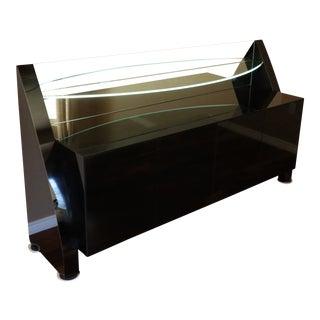 Custom Contemporary Black Lacquer Buffet For Sale