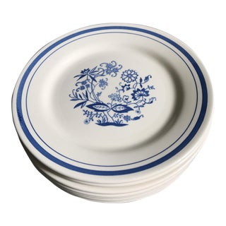 Vintage Oxford Blue & White Salad Plates - Set of 8 For Sale