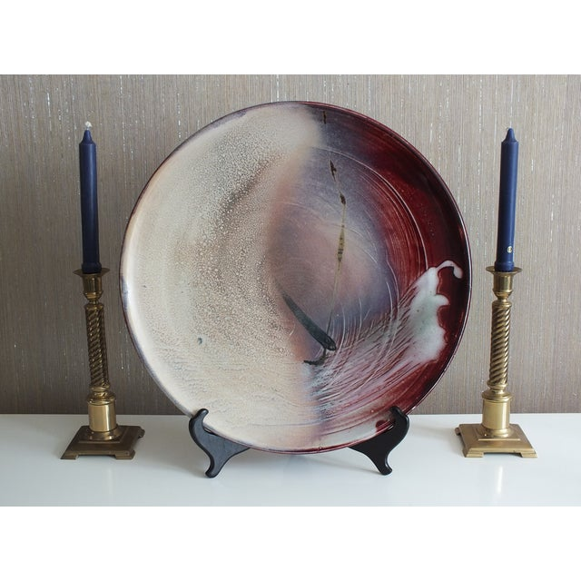 Modern Contemporary Art Pottery Charger Plate - Image 9 of 10