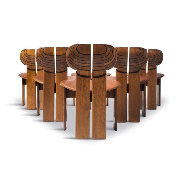 Africa Chairs by Afra and Tobia Scarpa With Cognac Leather Seating For Sale - Image 6 of 12