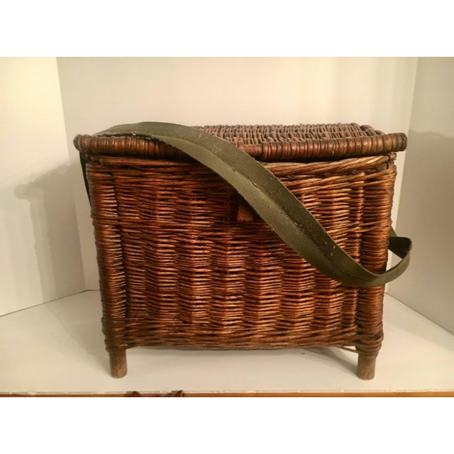 Vintage straw fishing creel, for its age this is in remarkable condition. Purchased in Nashville many years ago, this...