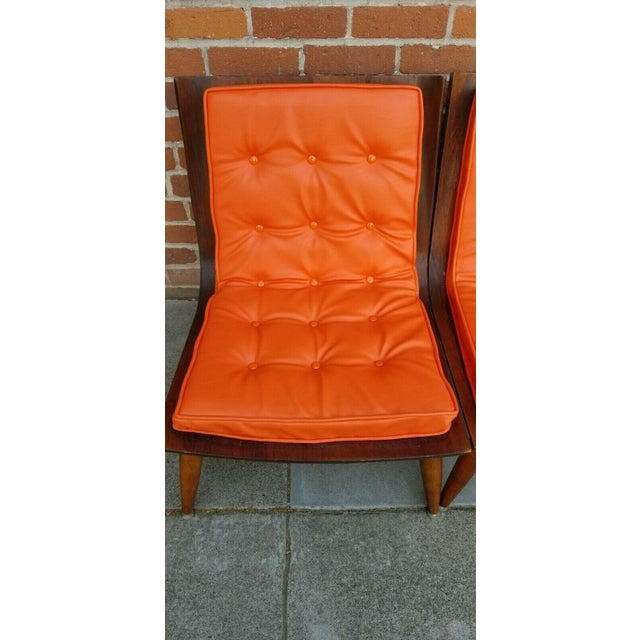 Wood Mid-Century Bentwood Upholstered Carter Brothers Scoop Chairs- A Pair For Sale - Image 7 of 9