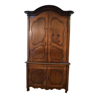 White Walnut Louis XV Armoire For Sale