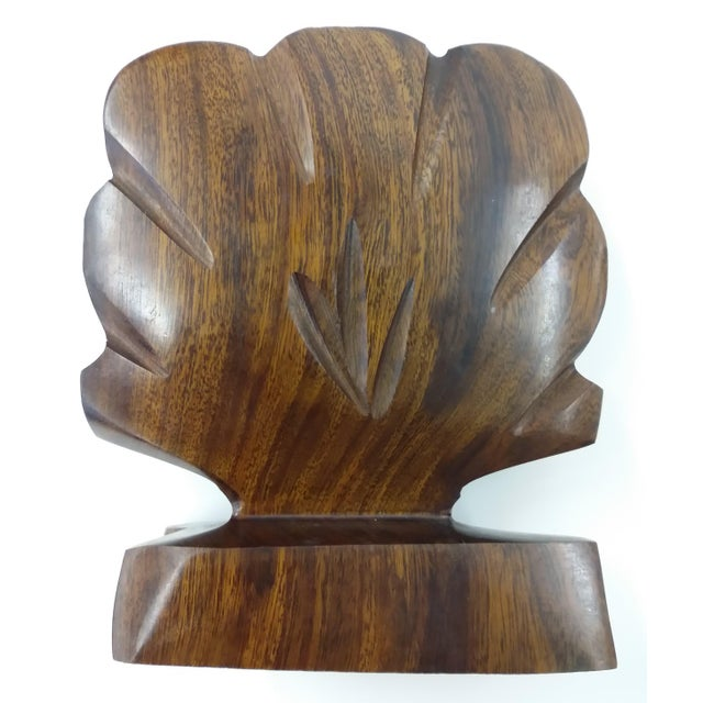 Heavy Ironwood Napkin or Letter Holder For Sale - Image 4 of 10