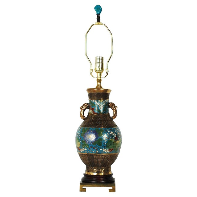 Bronze Champlevé Lamp - Image 8 of 8