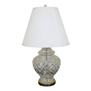 1990s Traditional Waterford Crystal Large Urn Shaped Table Lamp For Sale