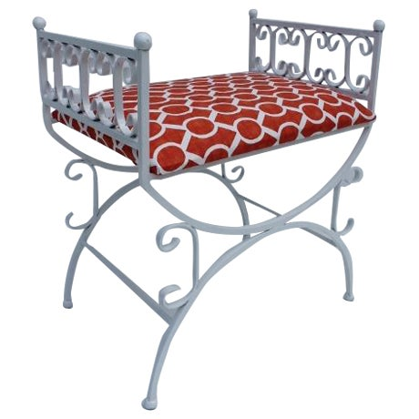 Arthur Umanoff The Granada Collections Iron Bench For Sale