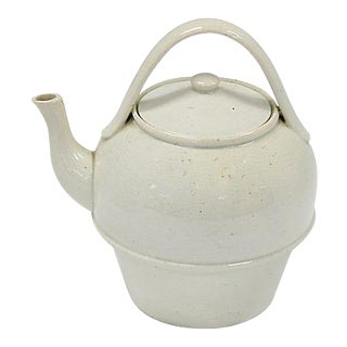 Antique English Creamware Teapot For Sale