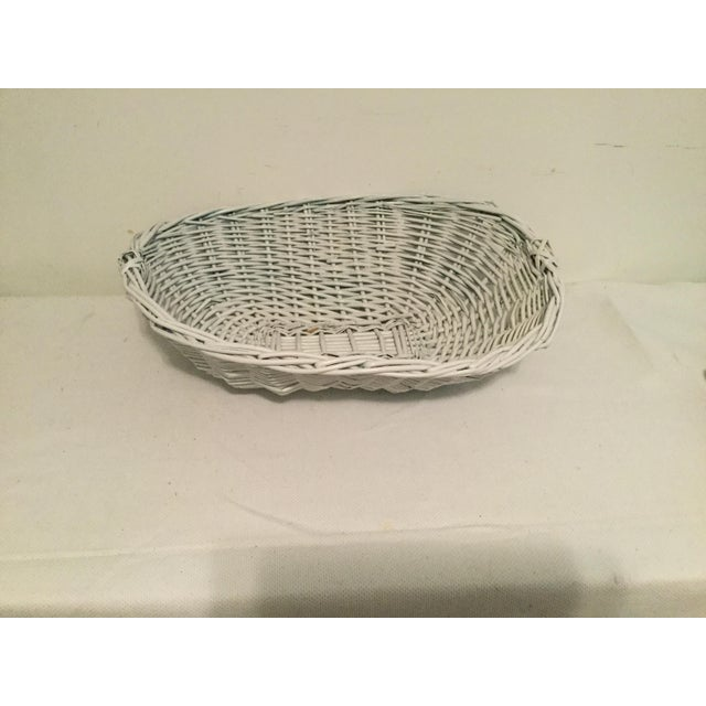 White Wicker Basket For Sale - Image 4 of 8