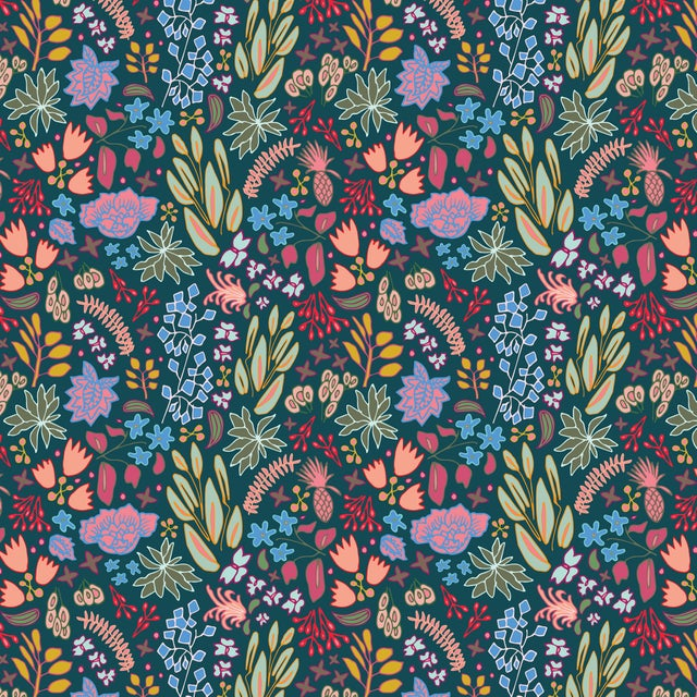 Contemporary House of Harris Cambridge Fabric, Navy Multi For Sale - Image 3 of 3