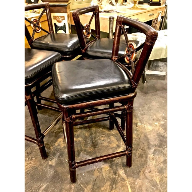 McGuire Bar Stools For Sale In Los Angeles - Image 6 of 10