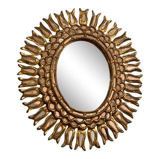 Vintage Oval Starburst Mirror For Sale