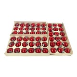 Image of Vintage Red Glass Holiday Balls - Set of 54 For Sale