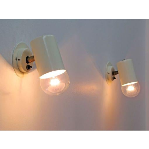 Pair of Minimalistic Stilnovo Adjustable Brass White Wall Lights For Sale - Image 10 of 10