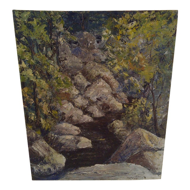 """""""The Brook"""" Painting by Ruby Schoernam For Sale"""