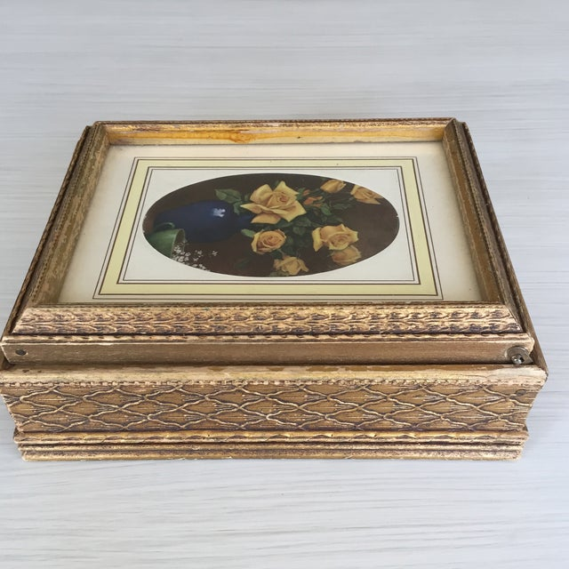 Antique Carved Wooden Jewelry Box - Image 6 of 11